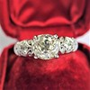 1.71ct Old Mine Cut Diamond Solitaire GIA K SI2 1