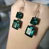 Georgian Double Drop Emerald Paste Earrings 3