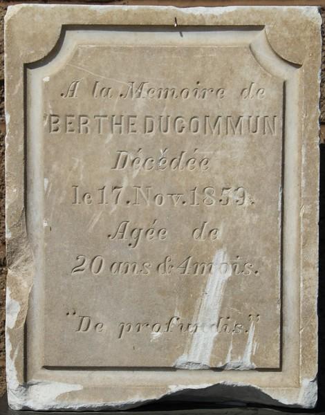 1859, Berthe Ducommun Tombstone