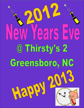2012 New Years Eve Party @ Thirsty's 2