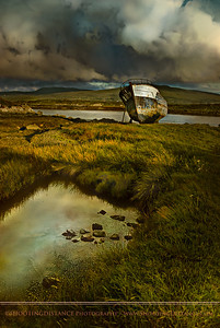 The splendor of decay- old fishing boat marooned on Dunmanus Bay, Ireland