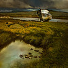 The splendor of decay- old fishing boat marooned on Dunmanus Bay, Ireland