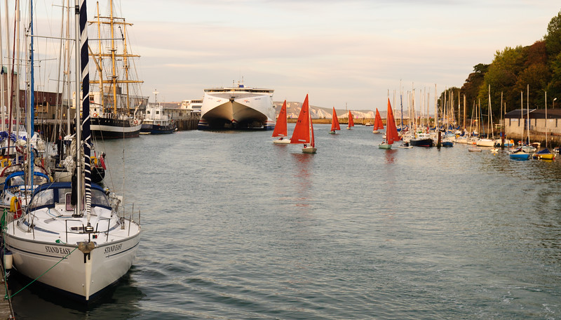 Sail boats in Weymouth Harbour