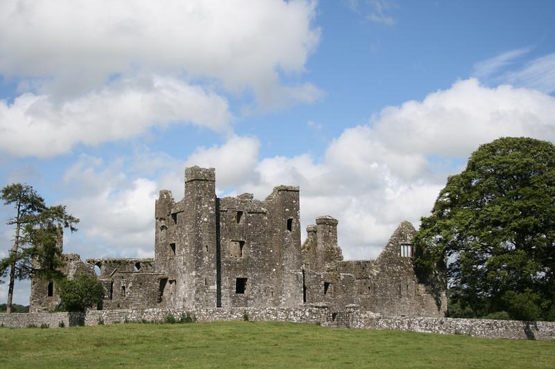 A castle along the road.