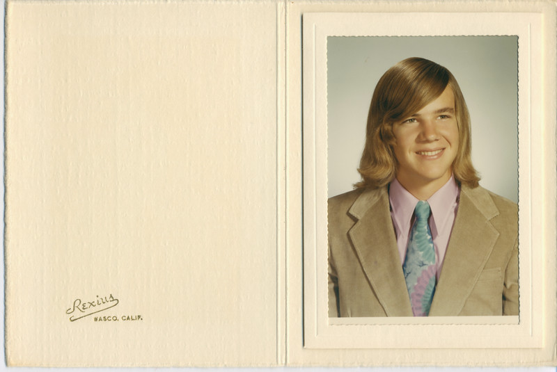 David high school graduation portrait