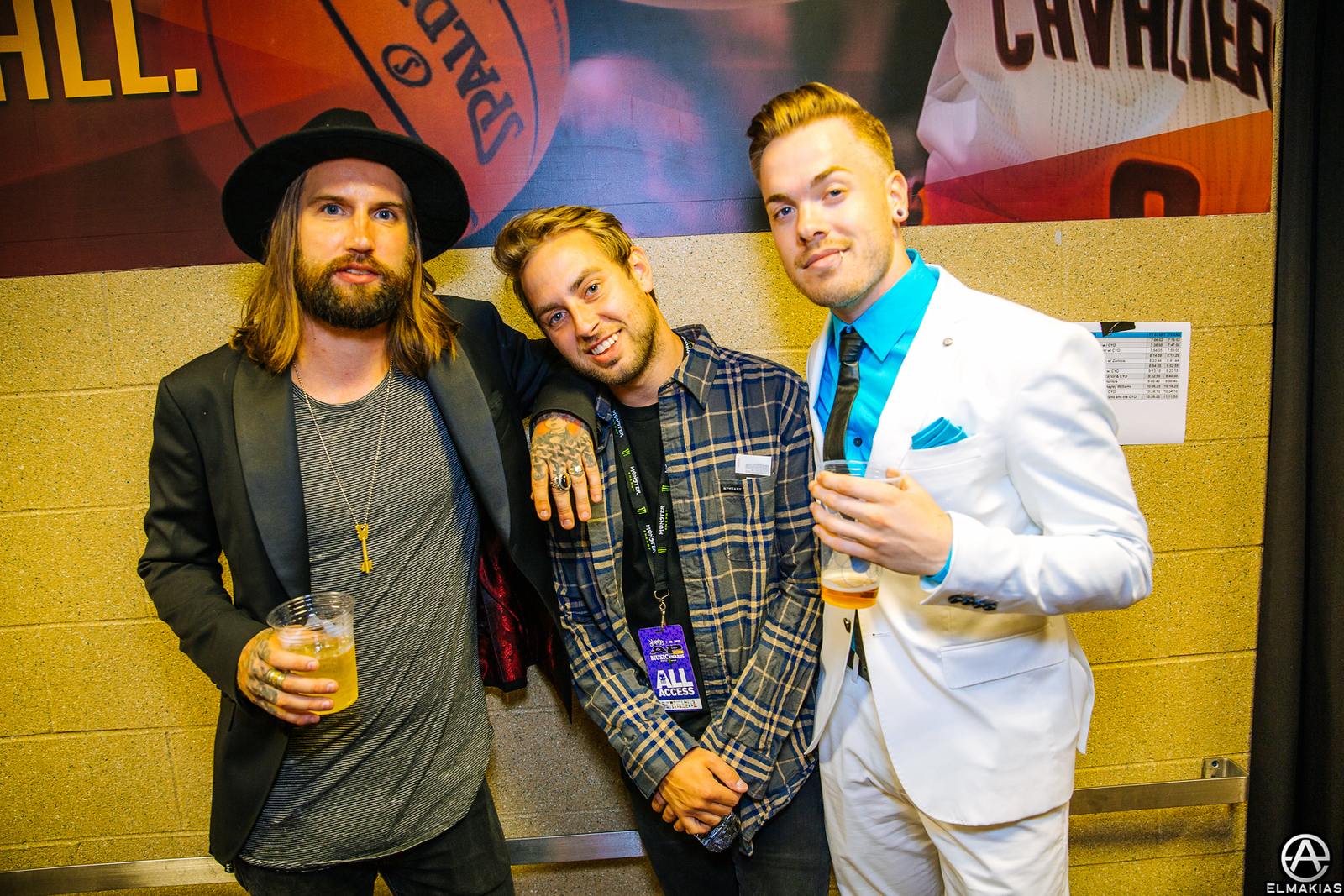 Keith Buckley of Every Time I Die, Tyler Carter of ISSUES, and Cody Carson of Set It Off at the APMAs 2015 by Adam Elmakias