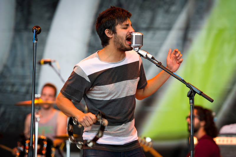 Sameer Gadhia of Young The Giant performs on December 3, 2011 during 97X Next Big Thing at 1-800-ASK-GARY Amphitheatre in Tampa, Florida