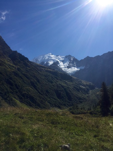 Stage 1 Les Houches to Refugio Miage.