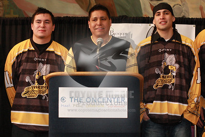 2/7/2013 - Syracuse Stingers press conference - War Memorial at Oncenter, Syracuse, NY