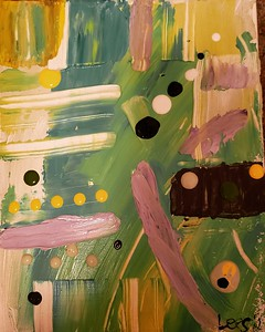 """Ozma"" (acrylic) by Lisa Datin"
