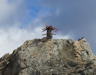 We stonden er bovenop. Colle Sommeiller, 3050 meter hoog