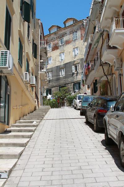 Downtown Corfu.