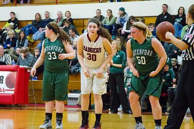 Badger girls hoops v. Waterford