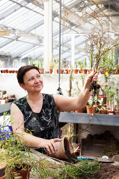 Botanical Garden Worker Irina Dityateva. Saint Petersburg, 2016.