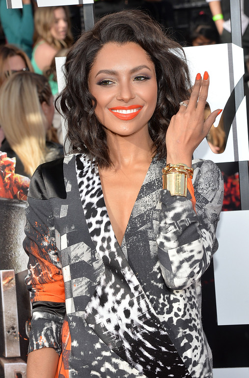 . Actress Kat Graham attends the 2014 MTV Movie Awards at Nokia Theatre L.A. Live on April 13, 2014 in Los Angeles, California.  (Photo by Michael Buckner/Getty Images)