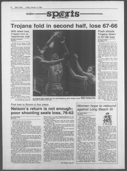 Daily Trojan, Vol. 108, No. 3, January 13, 1989