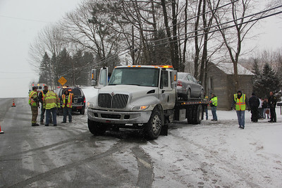 Single Motor Vehicle Accident, Intersection of SR309 and Skyline Drive, West Penn Township (1-25-2014