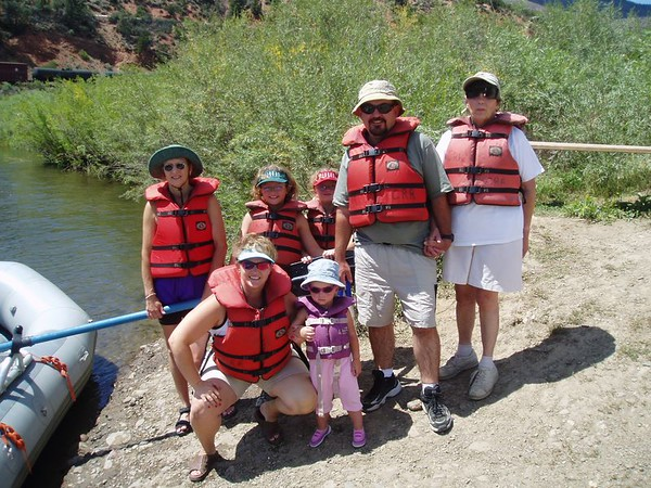 Rafting the Upper Colorado near Vail, CO -- 2004
