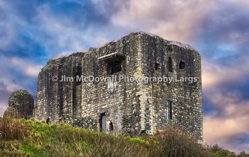 Ancient Ruins of Dundonald Castle Scotland