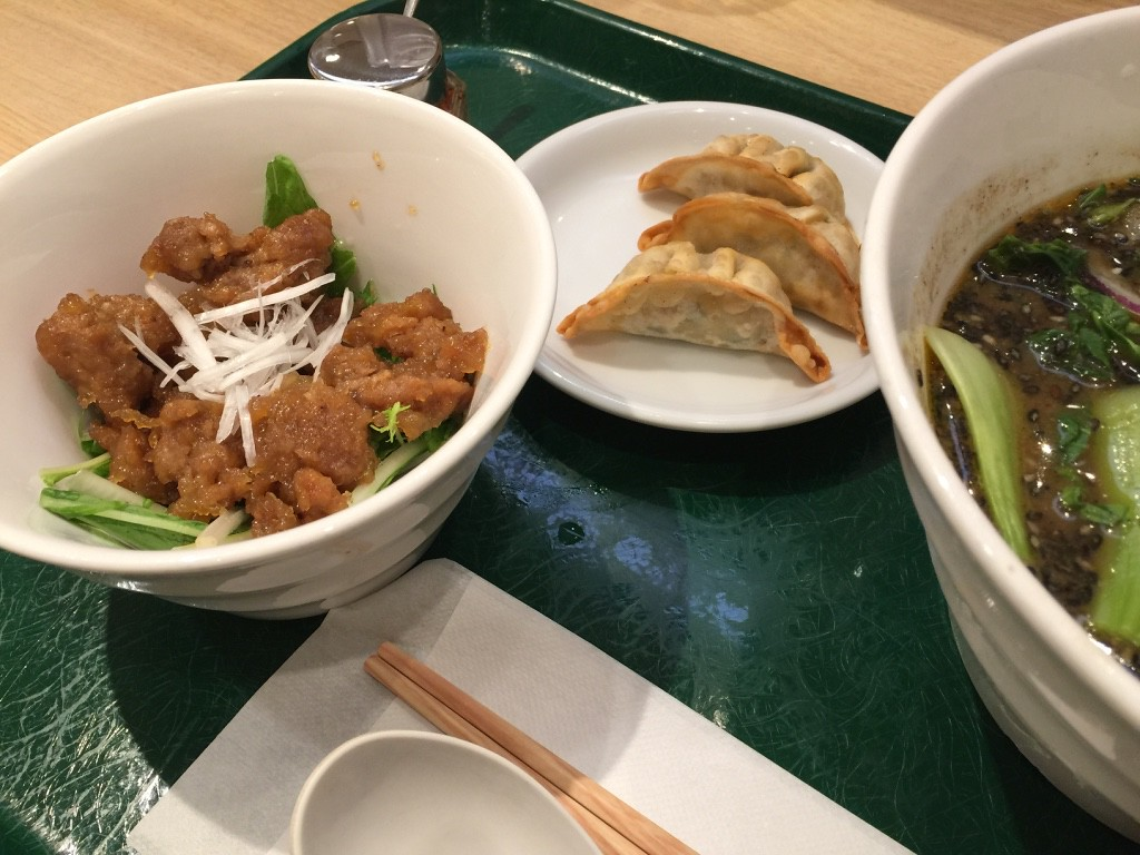 Gyoza and Asian fried chicken