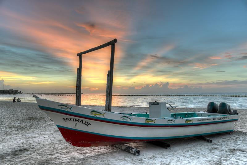 Morning Twilight - Playa del Carmen, Mexico - August 15, 2014