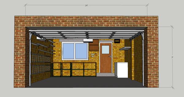 Garage location dimensions