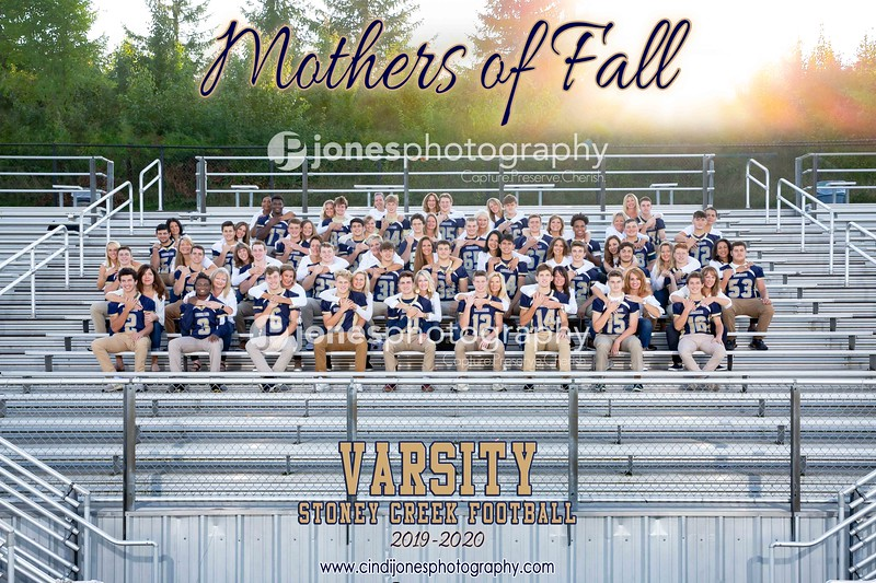 Stoney Creek Football with Moms