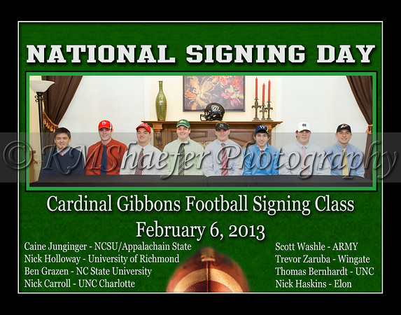 February 6, 2013 National Football Signing Day