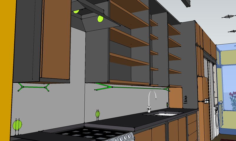 view of 3d model with electrical details