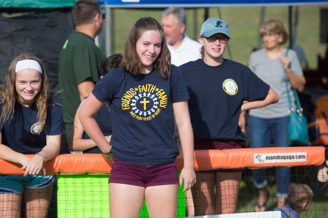 Samantha Resch, Topeka, 13, playing Gaga Ball