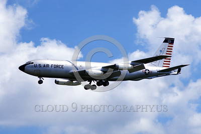U.S. Air Force KC-135 Stratotanker Airplanes in Bicentennial Color Scheme