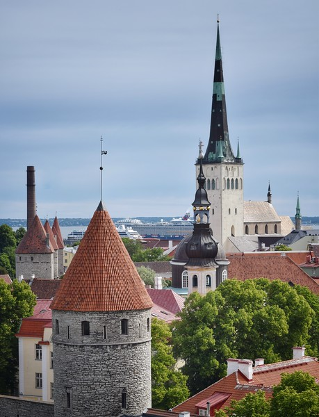 Tallinn, Estonia: Old Town and port
