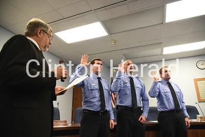 Clinton fire department swearing in 9-28-18