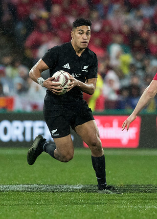 Rieko Ioane during game 9 of the British and Irish Lions 2017 Tour of New Zealand, the second Test match between  The All Blacks and British and Irish Lions, Westpac Stadium, Wellington, Saturday 1st July 2017 (Photo by Kevin Booth Steve Haag Sports)  Images for social media must have consent from Steve Haag