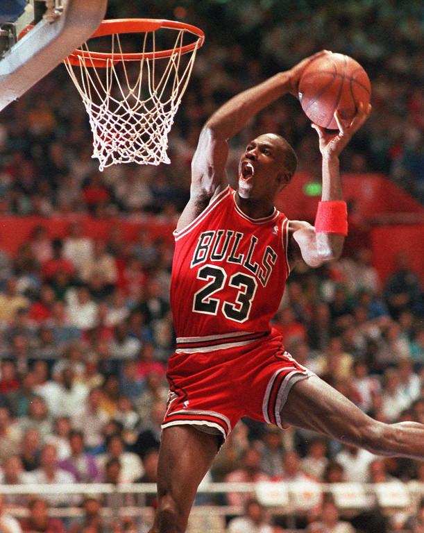 . 3. Michael Jordan (AP Photo/Kirthmon Dozier)