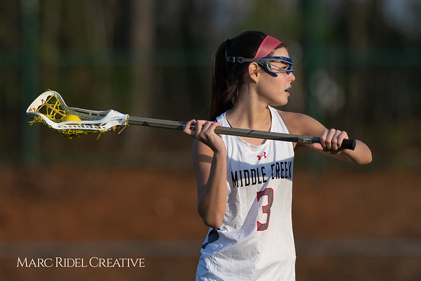 Broughton Lady Caps lacrosse at Middle Creek. February 26, 2019. D4S_1764