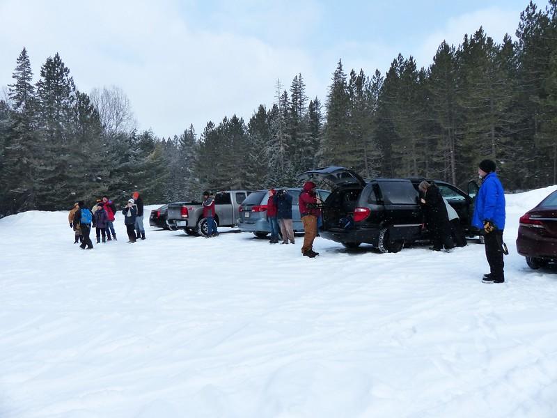 WBFN members meet at the Logging Museum parking lot