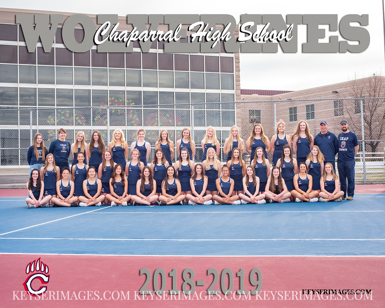 2018-2019 CHAPARRAL GIRLS TENNIS