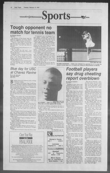 Daily Trojan, Vol. 114, No. 23, February 12, 1991