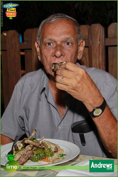 "Andrews says, ""Go ahead, indulge d #FoodieHoppin!"""
