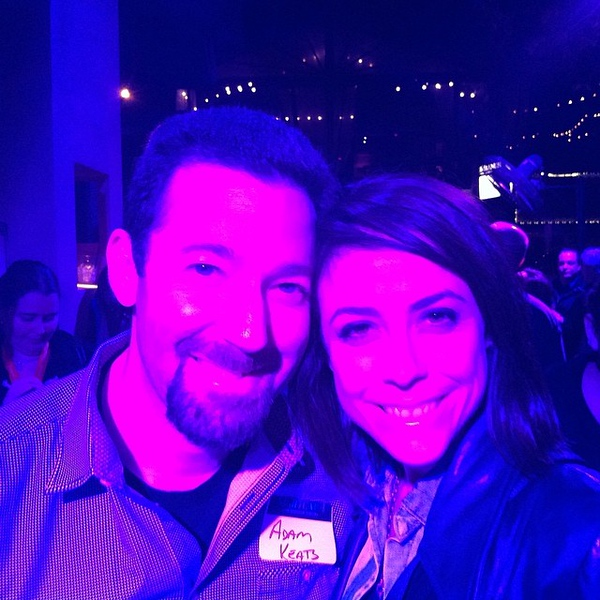 Basking in the blue @edelman lights with @shiralazar