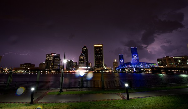 Lightning at the Jacksonville Landing