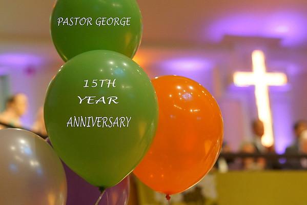 PASTOR GEORGE 15TH YEAR ANNIV.