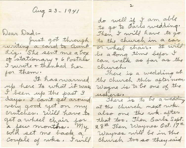 May Griffin Letter 1941