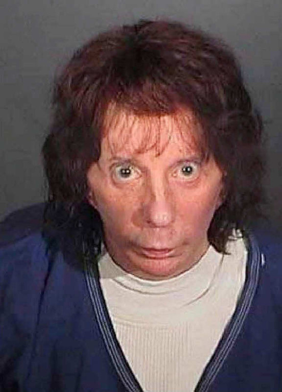 . LOS ANGELES, CA - APRIL 13:  In this police booking photo released by the Los Angeles County Sheriff\'s Dept., rock music producer Phil Spector poses for a mugshot April 13, 2009 in Los Angeles, California. Spector was found guilty of second degree murder during the re-trial in the shooting death of actress Lana Clarkson in 2003.  (Photo by Los Angeles County Sherriff\'s Department via Getty Images)