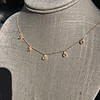 1.01ctw Trillion Rose Cut Diamond Scatter Necklace 24