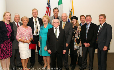 Ireland President Michael D Higgins visits San Jose