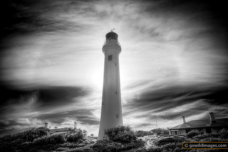 A 22 degree halo around Pt Hicks lighthouse