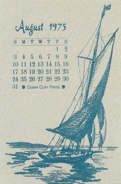 August, 1975, Cedar Cliff Press