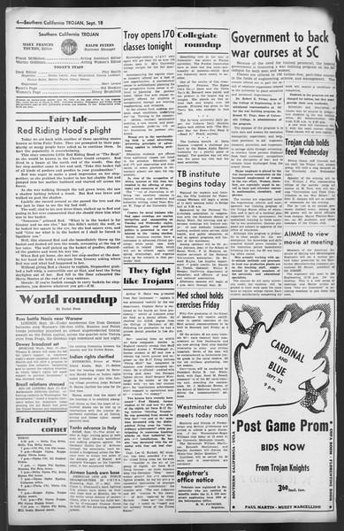 The Trojan, Vol. 35, No. 165, September 18, 1944